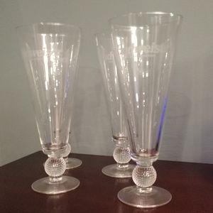 Budweiser pilsner glasses